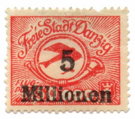 Flugpost Freie Stadt Danzig Inflation 1922