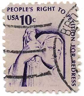 People's right to petition for redress - USA