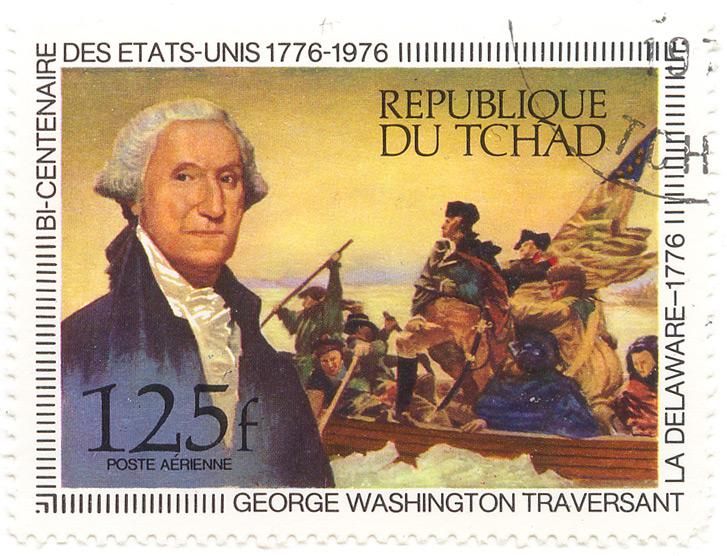 Bi Centenaire Des Etats Unis 1776 1976 George Washington Republique Du Tchad