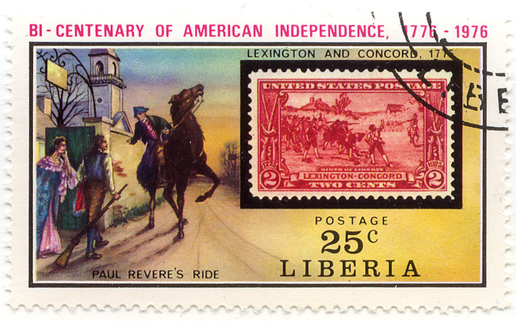 Bi-centenary of American Independence 1776-1976 - Lexington and Concord, 1776 - Paul River´s ride