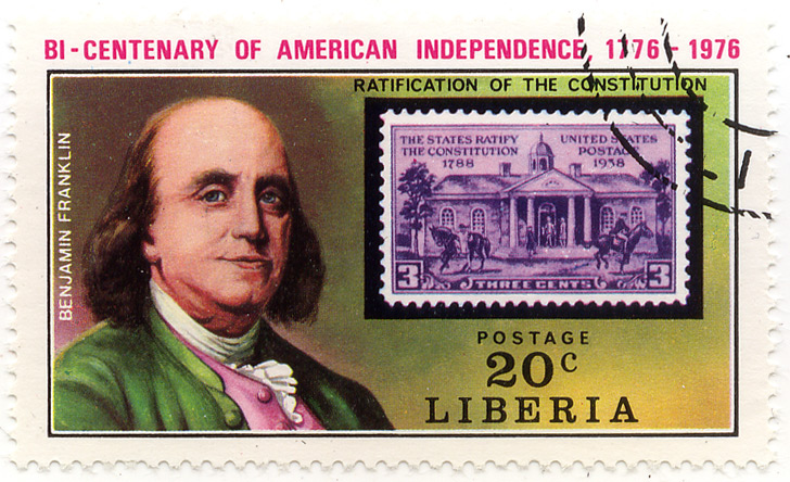 Bi-centenary of American Independence 1776-1976 - Ratification of the constitution - Benjamin Franklin