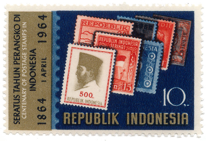 Seratus tahun perangko di Indonesia - Centenary of postage stamps in Indonesia - 1 April 1864 - 1964