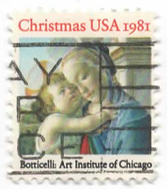 Christmas USA 1981 - Botticelli: Art Institute of Chicago