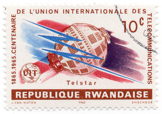 1865-1965 - Centenaire de l`union internationale des Télécommunications - Telstar - UIT