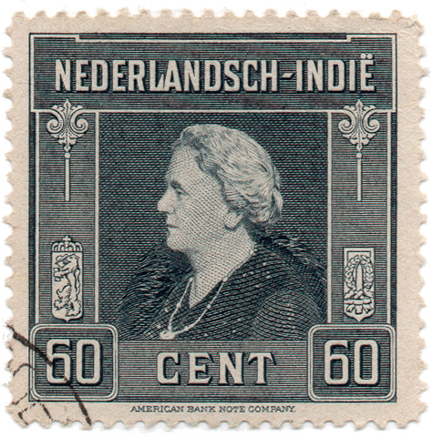 Nederlandsch-Indië - American Bank Note Company - Wilhelmina of the Netherlands