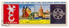Inauguration of the New UPU Building Bern 1970 - Belgium 1958 - Spain 1959 - Europa