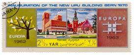 Inauguration of the New UPU Building Bern 1970 - Norvey 1962 - Denmark 1963 - Europa
