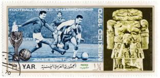 Football world championship Mexico 1970 - Jules Rimet Cup - Coatlicue Goddess of the earth - Aztec